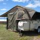 Boswa en tent by hartenbos langs die see