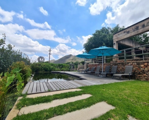 Franschhoek Camping pool and Campsite